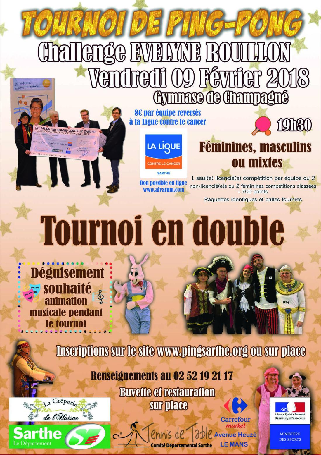Classement du Challenge Evelyne Rouillon