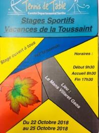 Stage pour tous Vacances de la Toussaint