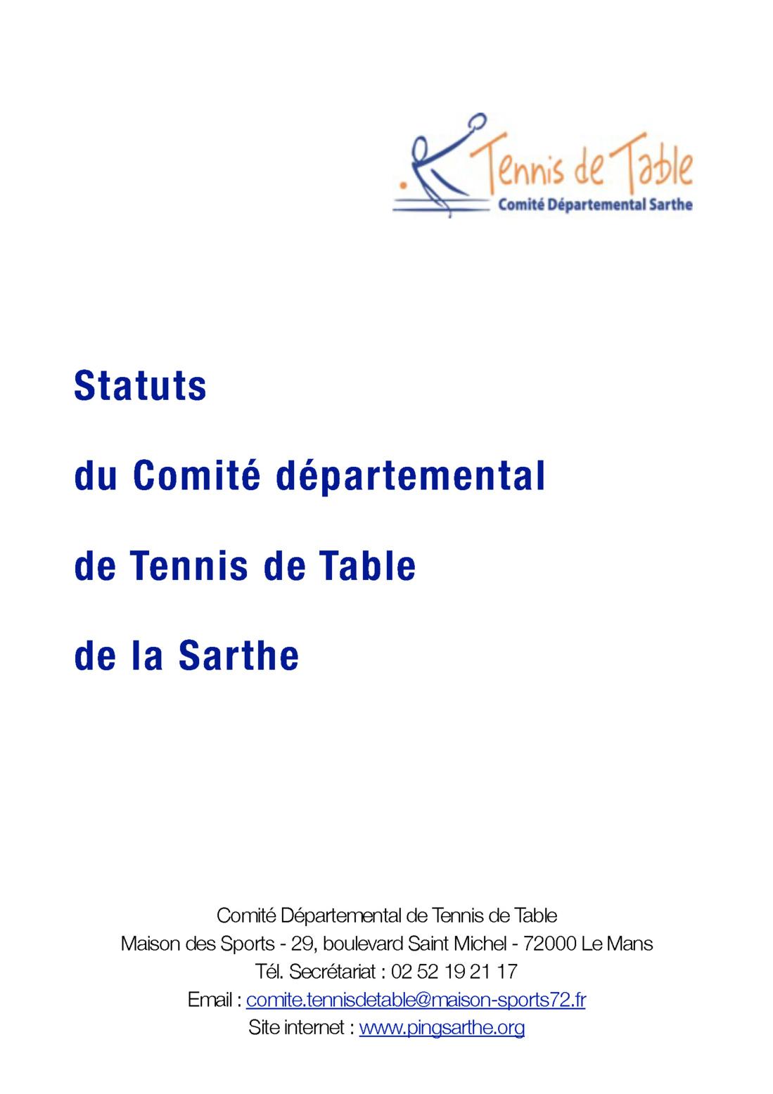 Statuts du comit d partemental - Comite charente tennis de table ...