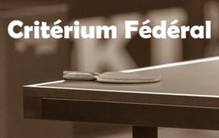Convocations du Critérium Fédéral T4 des 14 et 15 mars.