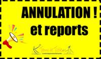 ANNULATION DES COMPETITIONS ET DES ENTRAINEMENTS