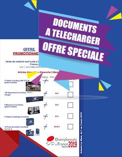 Vente matériel Championnats de France