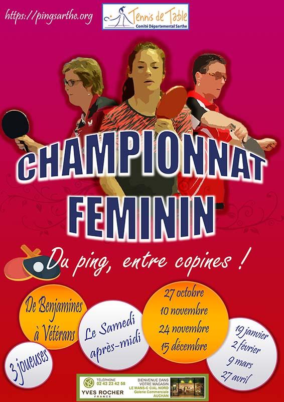 Poules Championnat Féminin Phase 1