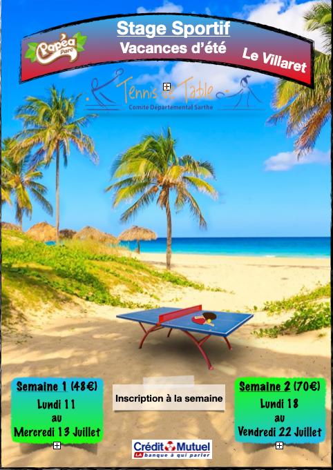 Stage pour tous été 2021