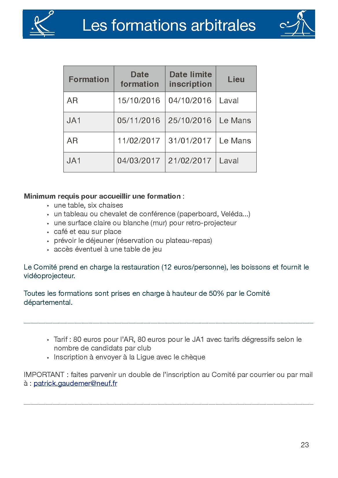 Formations AR & JA1 dans la Sarthe