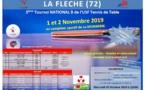 Résultats et rapport JA Tournoi National de La Flèche des 1er et 2 novembre